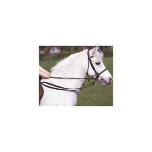 Grass Reins, Black (Horse, Pony, Equestrian, Anti-Grazing, One-Size)