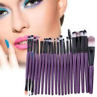 20pcs Pro Makeup Brushes Kit Powder Foundation Eyeshadow Eyeliner Lip Brush Set