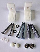 Pavimento angolato WC PAN / BIDET BAGNO FISSAGGIO Kit di Montaggio Inc Staffe