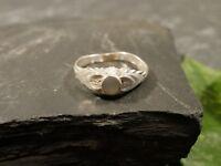 Verzierter 925 Silber Ring Stein Perlmutt Farben Besonders Charmant Schön Toll