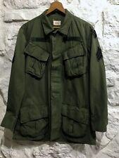 Vintage 1968 Vietnam Us Army Og 107 Poplin Tropical Slant Pocket Jungle Jacket S