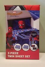 Spiderman Homecoming 3 Piece Twin Bed Sheet Set NEW Marvel Comics