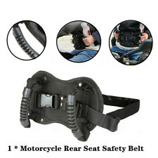 Motorcycle Passenger Adjust Safety Belt Rear Seat Grab Grip Handle Belly Strap