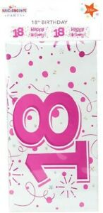 FANTASTIC COLOURFUL PINK HAPPY 18TH BIRTHDAY BANNER - 2.6M LONG