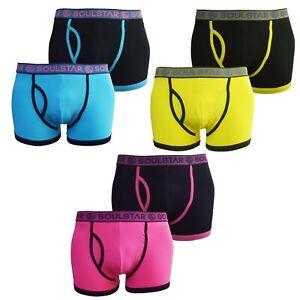 Men's Soul Star Twin Pack Boxer Shorts Set Plain Trunks Cotton Underwear