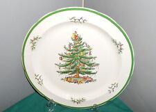"Spode CHRISTMAS TREE  Holly 12"" Round Chop Platter S3324  Green Rim England"