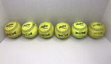 Six 11� Softball Official Dream Seam Fast Pitch Rawlings Usssa Fast Pitch Classi