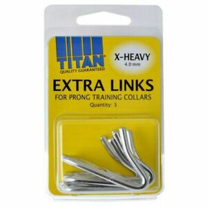 LM Titan Extra Links for Prong Training Collars  X-Heavy (4.0 mm) - 3 Count