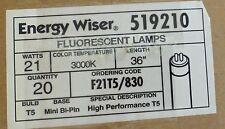 Box of 20, ENERGY WISER 21-Watt High Output Linear Fluorescent Lamp, 519210, T5