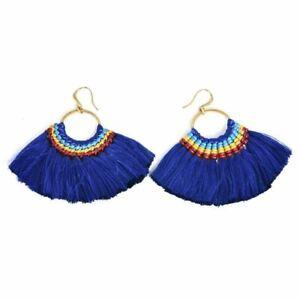 NEW Fashion Boho Dangle Ear Earrings Women Long Tassel Fringe Party Jewelry Gift