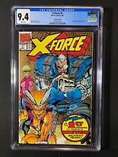 X-Force #1 CGC 9.4 (1991) - Second Printing - Wraparound gold ink cover