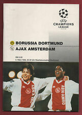 Orig.prg champions league ° 95/96 Borussia Dortmund-AJAX AMSTERDAM 1/4 f.