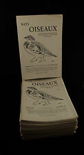 RARE lot de revues ornithologique NOS OISEAUX Société Romande 40's - 50's - 60's