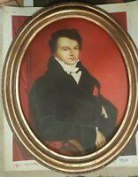 quadro dipinto A MANO SU TELA con cornice barocC IN LEGNO  classico  FOGLIA ORO