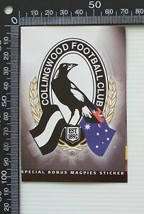 OLD 90s AGE NEWSPAPER AUSTRALIA AFL MAGPIES COLLINGWOOD FOOTBALL CLUB STICKER