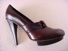 Chloe Women's Size  36,5Round Toe Platform Pumps Heels Dark Brown Reg $750 MINT