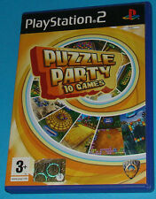 Puzzle Party - 10 Games - Sony Playstation 2 PS2 - PAL