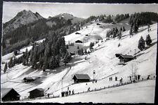 SWITZERLAND~SCHWEIZ~1939 ADELBODEN~SKI SKIING~SKILIFT KUENISBERGLI~BODEN~ RPPC