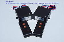 MSD 12V 20A 2CH MOMENTARY with 2 long range remote control relay switch RX12P2
