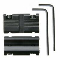 11mm Dovetail to 20mm Weaver Picatinny Rail Scope Mount Adapter Converter Kit