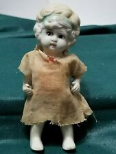 """Vintage Porcelain Bisque 5"""" Girl Doll Made In Japan Jointed Arms"""