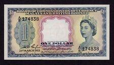 Malaya & British Borneo, 1 Dollar 1953, P-1a, UNC * Queen Elizabeth *