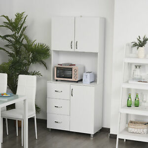 Tall Style Free Standing Kitchen Pantry Storage Wooden Cabinet with Open Space