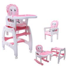 3 in 1 Multi Kinderhochstuhl Kombihochstuhl Stuhl Tisch Baby Hochstuhl Schaukel