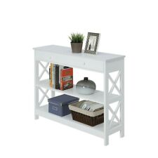 Convenience Concepts Oxford 1 Drawer Console Table, White - 203295W