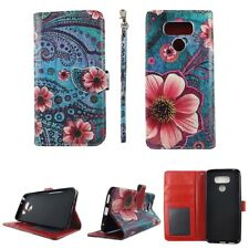 CASE FOR LG G6 2017 CASE WALLET COVER FOLIO PU LEATHER CARD HOLDER GREEN VINTAG