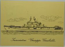 Cartolina Marina - Incrociatore Giuseppe Garibaldi - (Retro Annulli Filatelici)