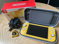 Nintendo Switch Lite Yellow Console w/ Case & Stand