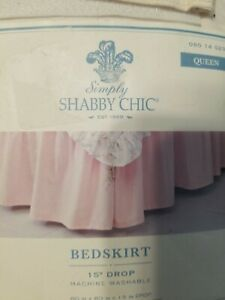 Simply Shabby Chic Pink Queen Bedskirt