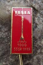 1985 Tesla 1000 Television Radio Antenna Towers Masts to Soviet Union Pin Badge