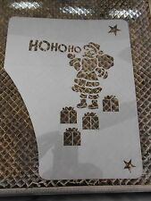 Christmas Face Stencil Santa Ho Ho Ho New!