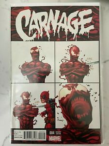 Carnage #4 2015 Series HTF 1:10 Variant Cover NM