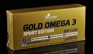 OLIMP Gold Omega-3  120 Mega Caps Sport Edition Fish Oil Fatty Acids EPA DHA