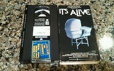 IT'S ALIVE RARE VHS TAPE! WARNER 1973 HORROR! JOHN RYAN SHARON FARRELL