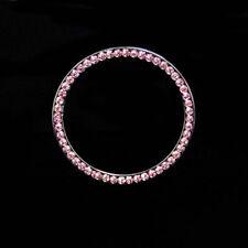 Car Button Start Switch Diamond Ring Pink Auto Decorative Accessories