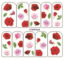 Nail Art Sticker Water Decals Transfer Stickers Roses Flowers (BOP234)