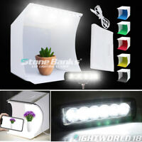 Foldable Photo Studio Mini Lighting Room LED Photography Tent Cube Box +Backdrop