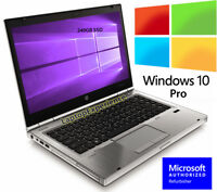 HP LAPTOP WINDOWS 10 PRO CORE i5 2.5GHz 16GB RAM WiFi DVD NOTEBOOK 240GB SSD HD