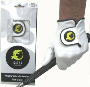 100% Cabretta Leather Golf Glove Small Medium M/L Large XL 5 Sizes 4 Gents