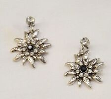 PIERCED EARRINGS Dirndl Dress German EDELWEISS FLOWER Dangle Hang ~ NEW In BOX