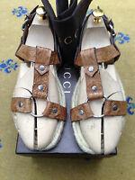 Gucci Mens Sandals Thongs Leather Flip Flop UK 8.5 US 9.5 EU 42.5 Shoes Croc