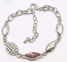 Women's 14 Carat White Gold plated crystal bracelet Jewellery