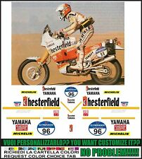 kit adesivi stickers compatibili XT 750 Z SUPER TENERE  CHESTER PARIS DAKAR 1989