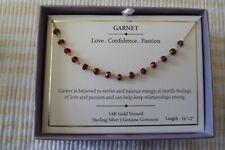 Shivam Made in India 14K Gold Vermeil - Sterling Silver - Genuine Garnet Stones