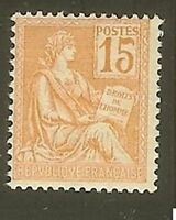 """FRANCE STAMP TIMBRE YVERT N° 117 """" MOUCHON 15c ORANGE """" NEUF xx LUXE"""