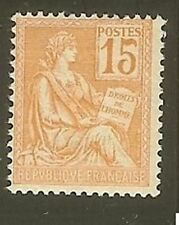 "FRANCE STAMP TIMBRE N° 117 "" MOUCHON 15c ORANGE "" NEUF xx TTB"